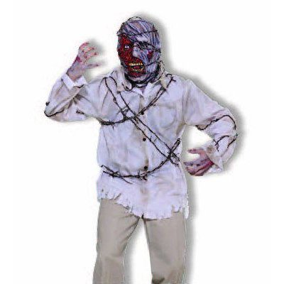 Costume Barbed Wire Shirt & Mask