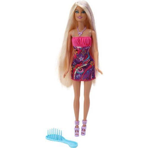 Barbie バービー- Hair-Tastic Doll Luxurious Blond Hair Super-Glitter 人形 ドール