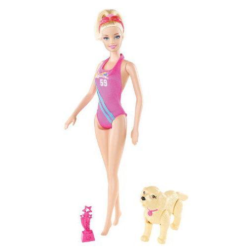 Barbie バービー Team Barbie バービー Swimmer Doll 人形 ドール