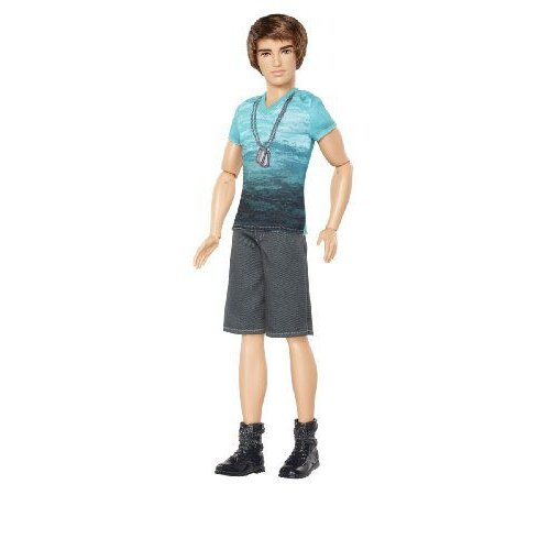 Barbie バービー Fashionista Ken Doll with 青 T-Shirt and Navy Shorts 人形 ドール