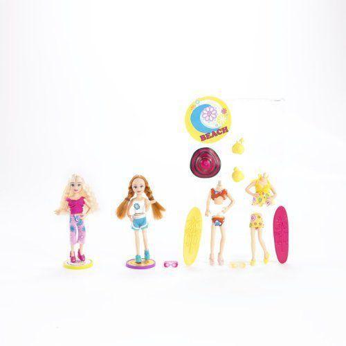 Polly Pocket Pop 'N Swap Fashion Frenzy Beach Doll Set 人形 ドール