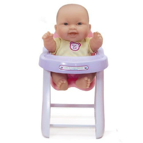 JC Toys Lots to Love Doll with High Chair (Expressions May Vary) 人形 ドール