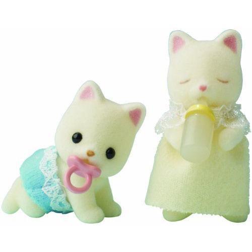Sylvanian Families Silk Cat Twin Babies 人形 ドール