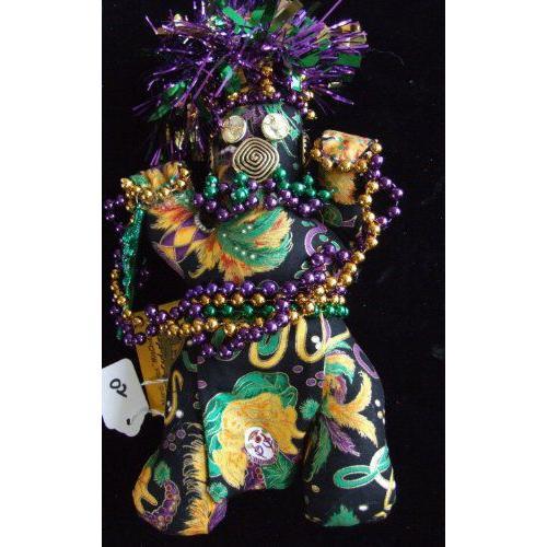 New Orleans Mardi Gras Mischief Doll 02 Voodoo Good Luck Power Money WEALTH PROSPER Carnival 人形