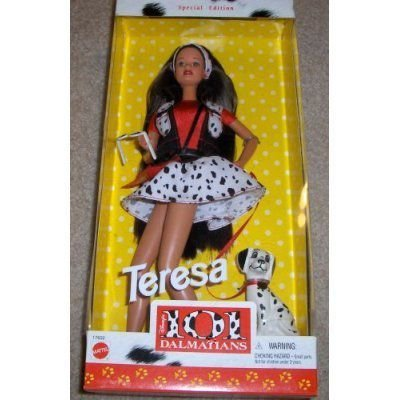1997 Disney's 101 Dalmations Teresa Barbie バービー Doll with Dalmation Special Edition 人形 ドー