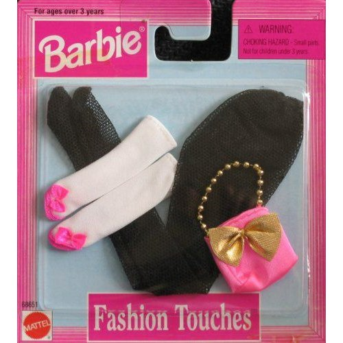 Barbie バービー Fashion Touches Accessories - 黒 Pantyhose & More (1997 Arcotoys, Mattel) 人形