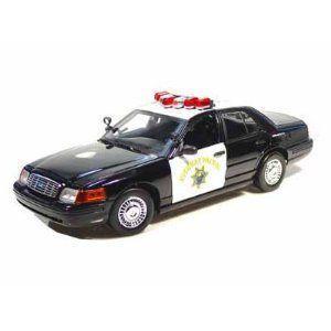 Ford Crown Victoria California Highway Patrol Police Car 1/18