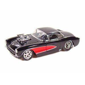 1957 Chevy Corvette Blown Engine 1/24 黒 w/赤