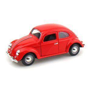 1955 Volkswagen Beetle Oval Window 1/24 - 赤