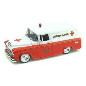 1957 Chevy Suburban Ambulance 1/24 赤/白い