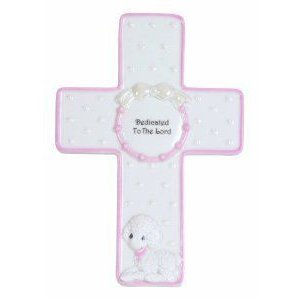 Precious Moments Dedicated to The Lord Girl Cross with Stand Figurine