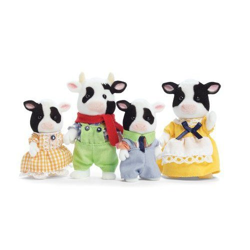 Calico Critters Friesian Cow Family フィギュア ダイキャスト 人形