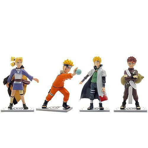 Set of 4 Naruto Collectible Figurines フィギュア ダイキャスト 人形
