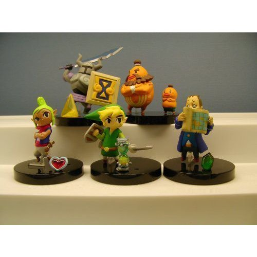 Legend of Zelda Phantom Hourglass Figure Set of 5 Complete フィギュア ダイキャスト 人形