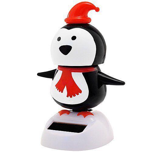 Solar Bobblehead Toy Figure - Dancing Penguin フィギュア ダイキャスト 人形