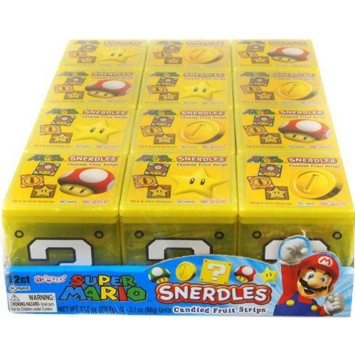 Nintendo Super Mario Brothers Box Snerdles Candy Fruit Stripes Case Of 12 フィギュア ダイキャスト