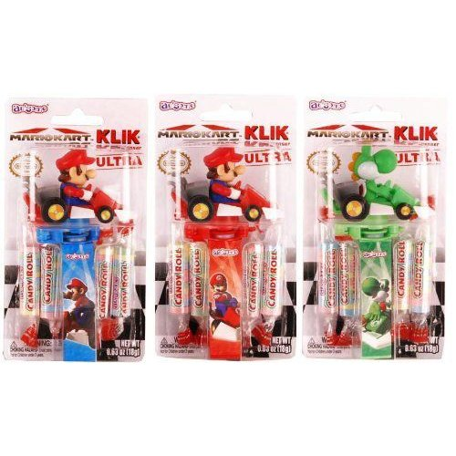 Super Mario Kart DS Klik Ultra Candy Dispenser Case Of 12 フィギュア ダイキャスト 人形