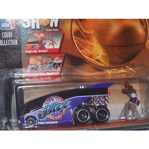 Utah Jazz Hot Wheels ホットウィール 1998 Pro Show NBA Diecast Bus Playset with Karl Malone and Hor