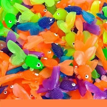 144 Vinyl ゴールドfish Assorted Colors Approx. 1 3/4 Long New フィギュア ダイキャスト 人形