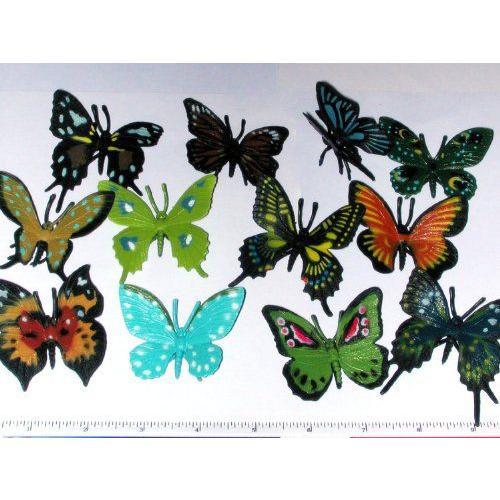 ~ 12 ~ Butterflies ~ Vinyl ~ 2 1/4 Inch Wide ~ New フィギュア ダイキャスト 人形