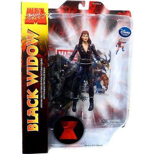 Marvel マーブル Select Exclusive Action Figure 黒 Widow フィギュア ダイキャスト 人形