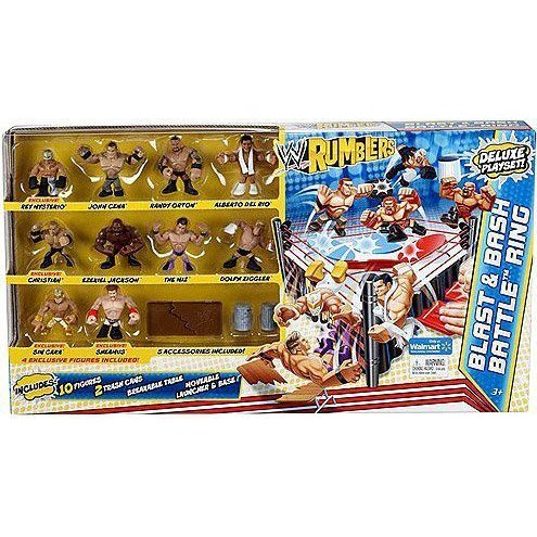 WWE プロレス Wrestling Rumblers Exclusive Blast & Bash Battle Ring with 10 Mini Figures & 5 Access