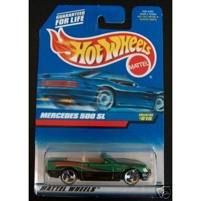 Hot Wheels ホットウィール 1998 緑 Mercedes メルセデス・ベンツ 500 SL #815 1:64 スケールミニカー
