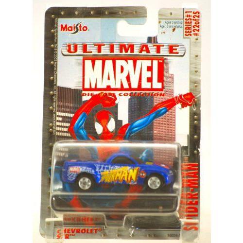 2002 - Maisto マイスト / Ultimate Marvel - Spider-Man / Chevrolet シボレー SSR / 青 - Series #1
