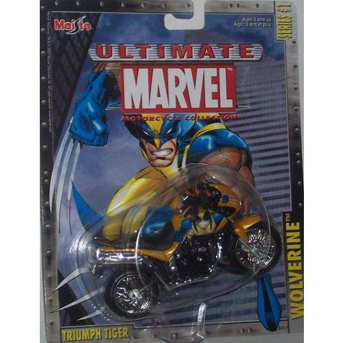 Maisto マイスト Ultimate Marvel Motorcycle - Wolverine Triumph Tiger X-Men Diecast Motorcycleミニ