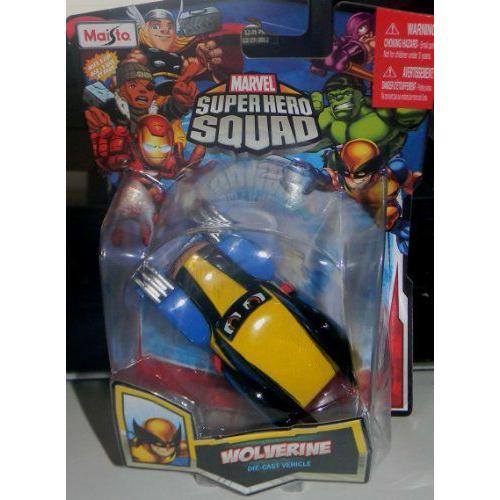 MARVEL SUPER HEROE SQUAD MAISTO WOLVERINE DIE CAST CARミニカー モデルカー ダイキャスト