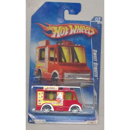 Hot Wheels ホットウィール 2009-113/166 HW City Works 07/10 赤 Sweet Streets Ice Cream Truck 1:64