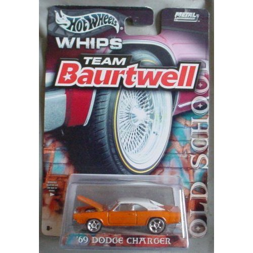 Hot Wheels ホットウィール Team Baurtwell WHIPS Old School '69 Dodge ドッジ Charger オレンジミニカー