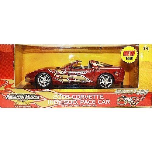 American Muscle 2003 Corvette indy 500 Pace Car 1:18 スケール Die Cast Metal Carミニカー モデルカ