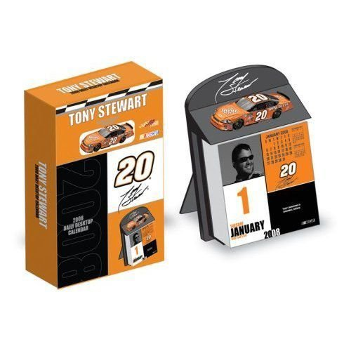 Tony Stewart #20 2008 Desk Calendar with 1/64 Die Cast Car Collectors itemミニカー モデルカー ダイ
