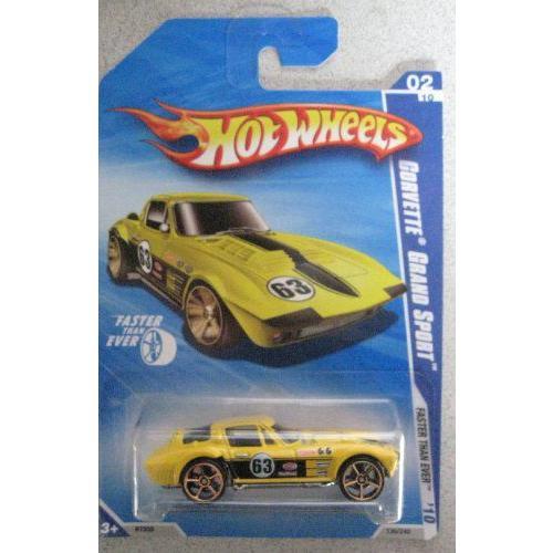 Hot Wheels ホットウィール 2010 Corvette Grand Sport Faster Than Ever 2/10 #130 黄ミニカー モデ
