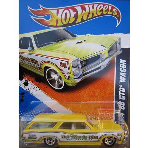 Hot Wheels ホットウィール Custom '66 GTO Wagon 3/10 HW City Works #119 (2011) 黄ミニカー モデ