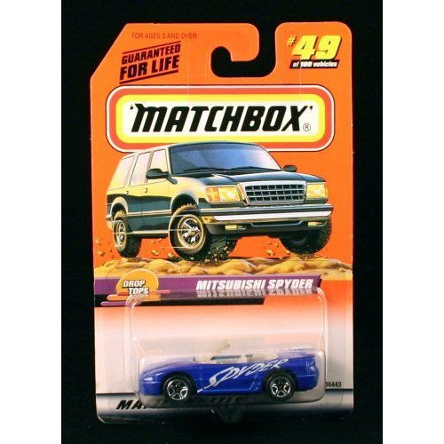 MITSUBISHI SPYDER * 青 * Drop Tops Series 10 MATCHBOX 1999 Basic Die-Cast Vehicle (#49 of 100)ミ
