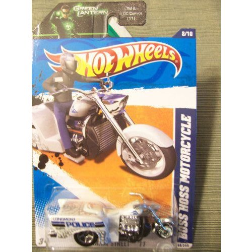 Hot Wheels ホットウィール 2011 HW Main Street Boss Hoss Motorcycle 8/10 on 緑 Lantern Cardミニ