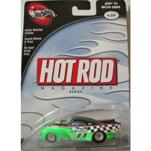Hot Wheels ホットウィール 100% Hot Rod Magazine 3/4 Jeep '41 Willys Coupe 緑ミニカー モデルカー