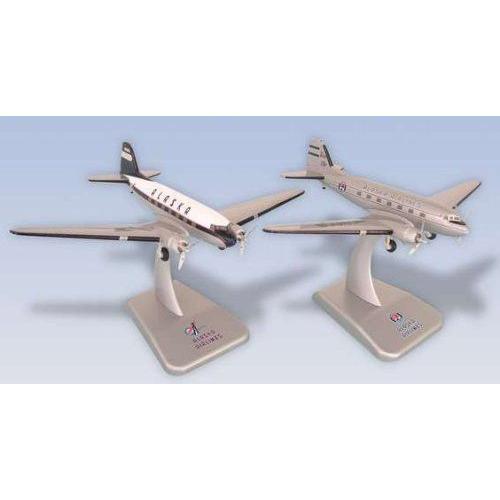 1: 200 ホーガンウィングス Alaska 航空 DC-3 Die-Cast Metal, 2 Plane Set
