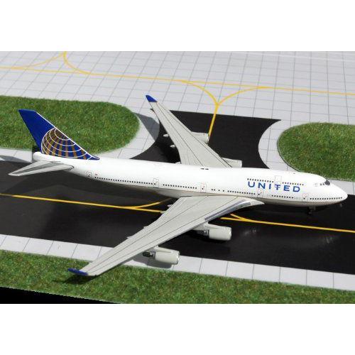 1: 400 ジェミニジェット ユナイテッド 航空 ボーイング 747-400 CO Merger Colors