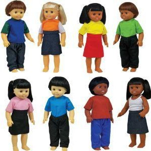 Get Ready Kids Multicultural Dolls, Set of 8 ドール 人形 フィギュア