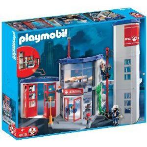 PLAYMOBIL (プレイモービル) Fire Station Construction Set