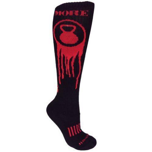 【半額】 MOXY Socks Black with Red Red Knee-High