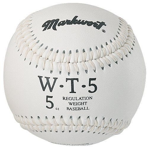Markwort Weighted 9-Inch Baseballs-Leather Cover (Individually Boxed) 白い