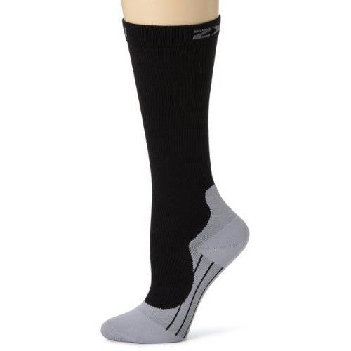 2XU Women's Compression Race Sock (黒/グレー Large)
