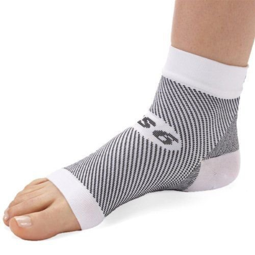 FS6 Compression Foot Sleeve - Pair - 白い Small