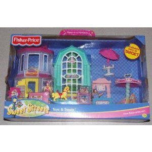 Fisher Price (フィッシャープライス) Sweet Streets Toys & Treats - Fast Food Restaurant, Toy Shop,