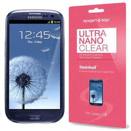 SPIGEN SGP Samsung Galaxy S3 Steinheil Ultra Nano CLEAR 3-PACK Screen Protector Cover