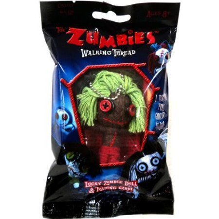 The Zumbies: Walking Thread Lucky Zombie Doll & Trading Card Keychain - Smitty ドール 人形 フィギ